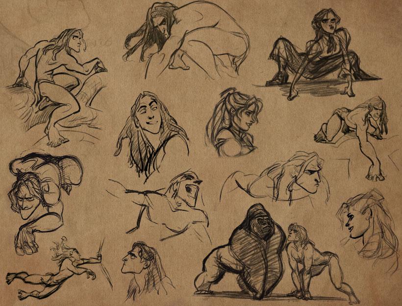 Disney Character Design Tarzan : Glen keane mostinfluentialdisneyanimators